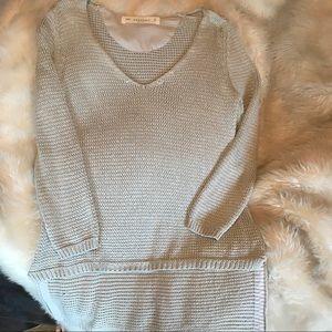 Zara light gray knit sweater